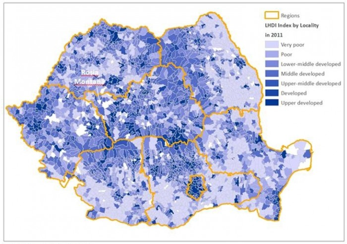 Indicele de Dezvoltare Umană Locală pentru 2011