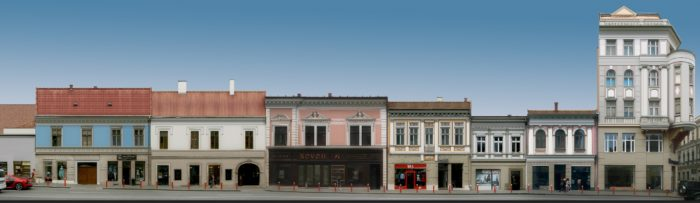 Propunere (2) pentru refațadizarea clădirilor de pe Str. Regele Ferdinand – culoare unitară la parter